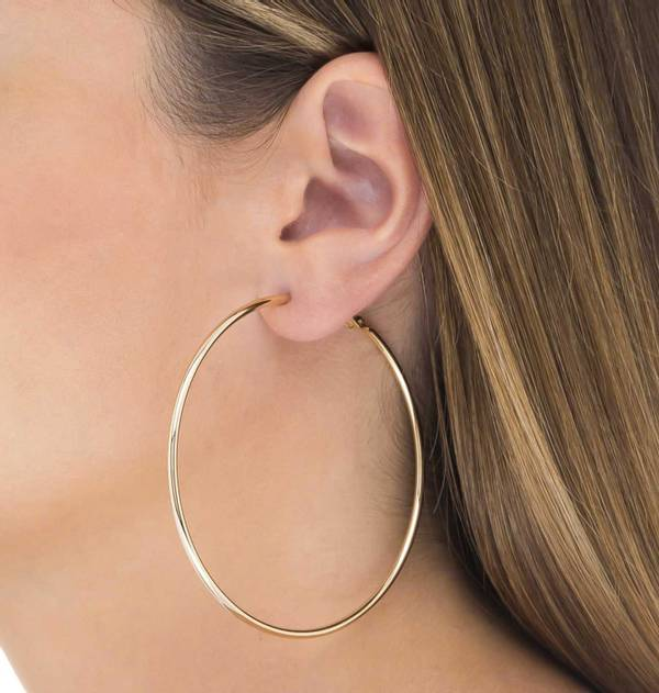 Gold Hoop Earrings XL
