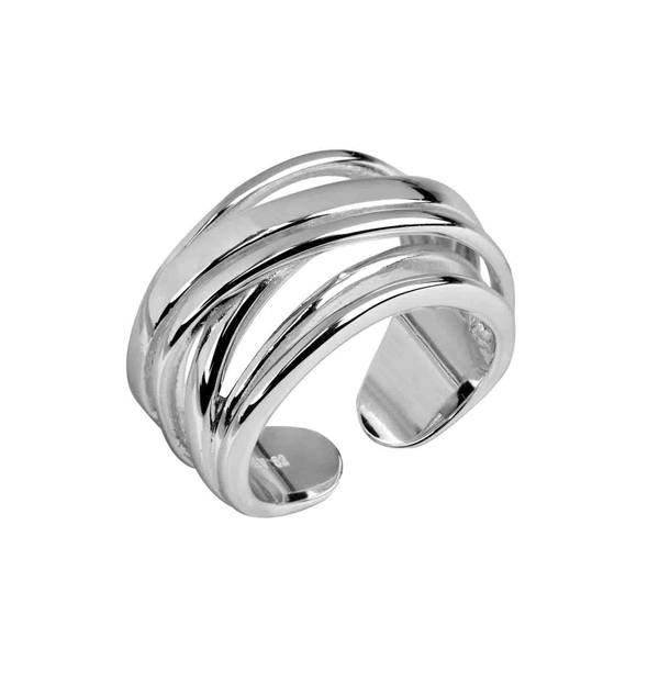 Smooth Openwork Silver Ring