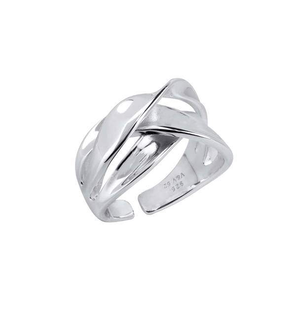 Adjustable Smooth Silver Ring