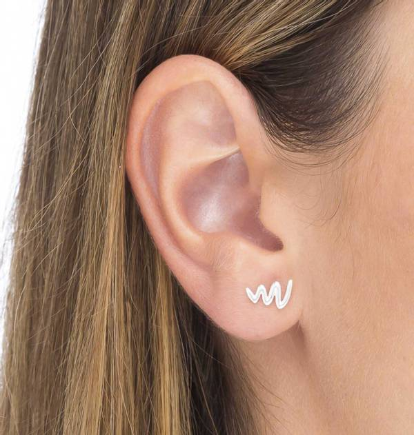 Silver ZigZag individual Earring