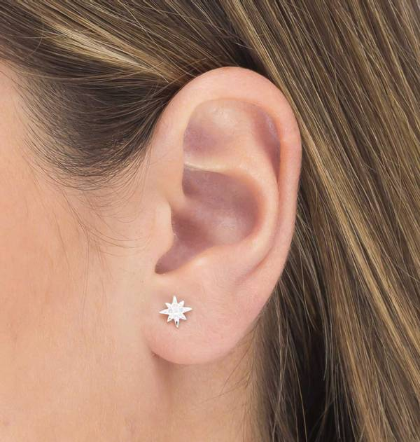Silver Star individual Earring