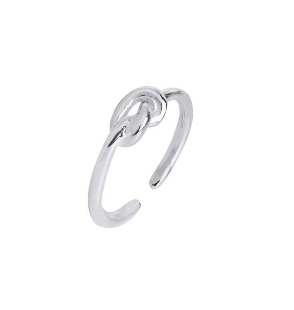 Open Silver Knot Ring