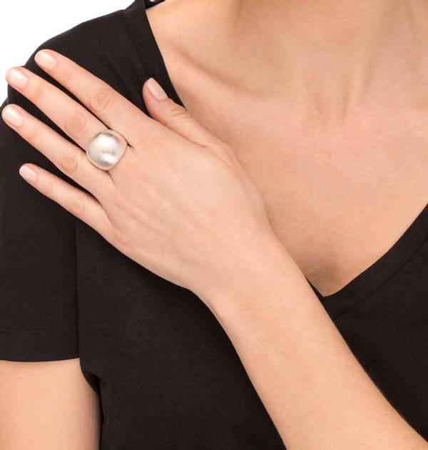 Wide Striped Ring