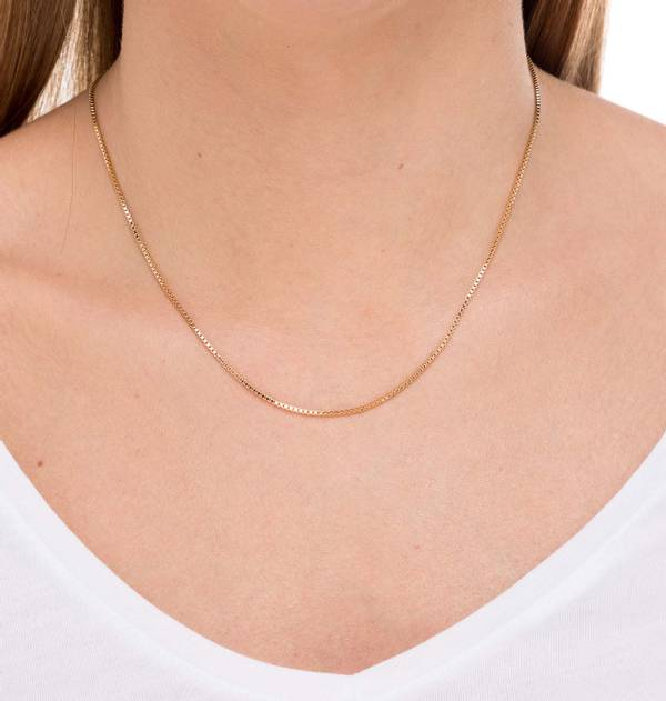 Square Balls Gold Necklace