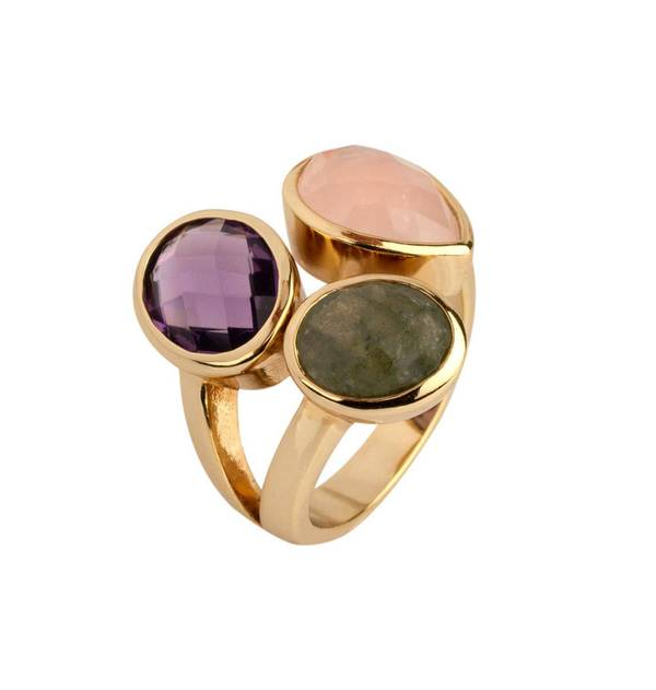 Gold Ring with Colored Stone