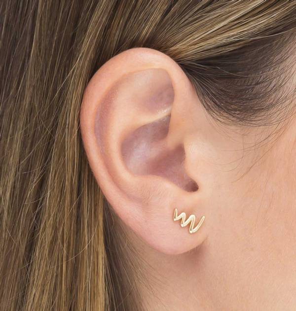 Individual ZigZag Gold Earring