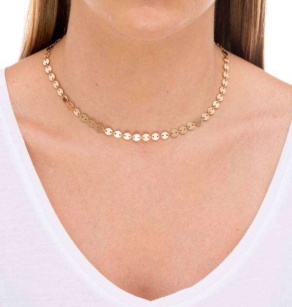 Gold Necklace Medals XS